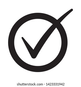 Check mark symbol, check box icon. Checkbox set with blank and checked checkbox line art vector icon for apps and websites