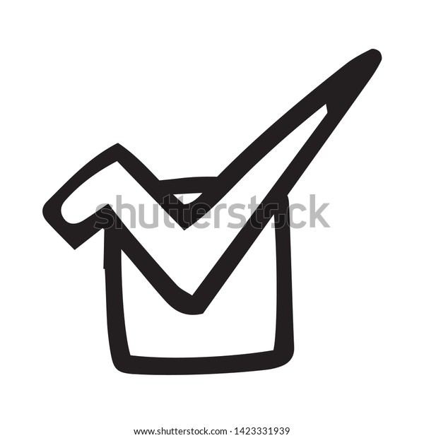 Check Mark Symbol Check Box Icon Stock Vector (Royalty Free