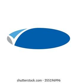 check mark template frame. logo vector.
