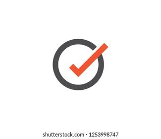 Check mark V Letter Logo Template