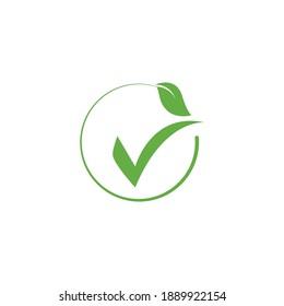 Check mark V letter logo design