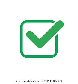 Check mark vector icon, approved ok symbol - Vector