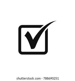check, check mark vector icon, check mark button icon, check mark in box sign