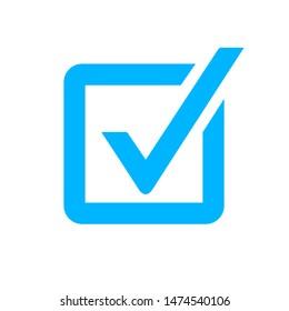 Check mark vector icon. Checkmark right symbol tick sign. Ok button correct circle icon.