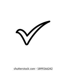 Check mark vector. Check mark icon. Tick mark symbol vector