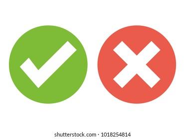 Check mark vector. Ok vector icon. No vector icon