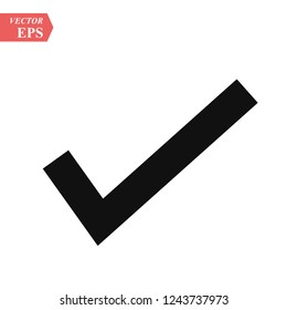 Check mark vector, in trendy flat style isolated on white background. vector illustration eps 10