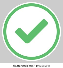Check marks, Tick marks, Accepted, Approved, Yes, Correct, Ok, Right Choices, Task Completion, Voting. - vector mark symbols in green. Isolated icon.