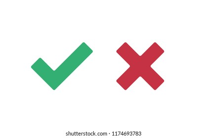 Check marks vector icons