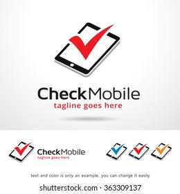 Check Mobile Logo Template Design Vector