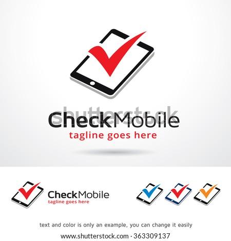 0571d939ca Check Mobile Logo Template Design Vector Stock Vector (Royalty Free ...