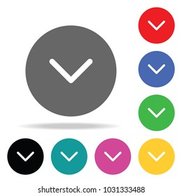 check ok icon. Elements in multi colored icons for mobile concept and web apps. Icons for website design and development, app development on white background