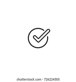 Check OK mark. Flat icon