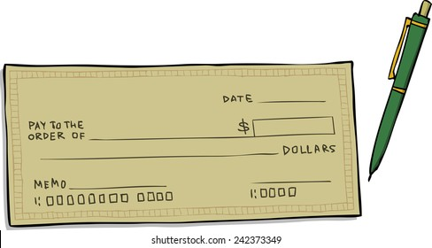 Bank Check Cartoon Hd Stock Images Shutterstock