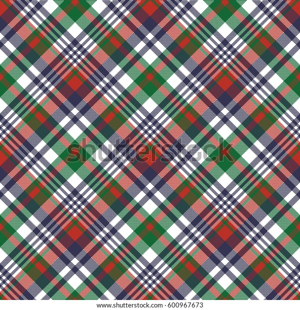 Check pixel color plaid seamless pattern. Vector illustration.