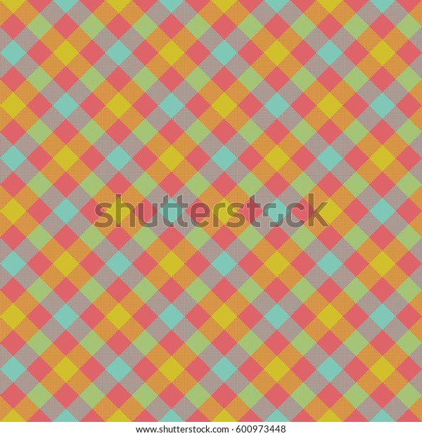 Check plaid fabric texture seamless pattern. Vector illustration. EPS 10.