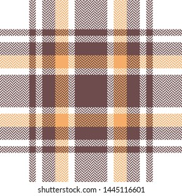 Check plaid pattern seamless vector graphic. Scottish tartan check plaid for summer flannel shirt, poncho, scarf, blanket, or other modern fashion textile design. Herringbone texture.