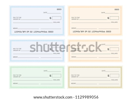 check template bank blank check icon stock vector royalty free