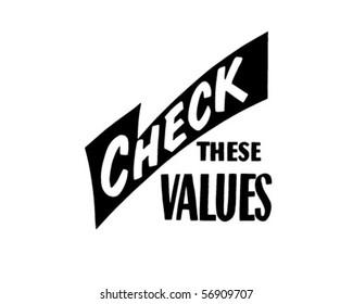 Check These Values - Retro Clip Art