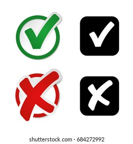 Check and Uncheck Vector Illustration