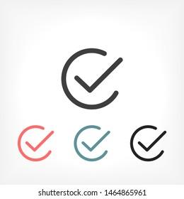 check Vector icon . Lorem Ipsum Illustration design