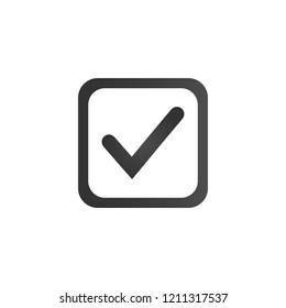 Checkbox Icon. Flat Symbol Style. Simple Web Design. Vector Illustration Sign.