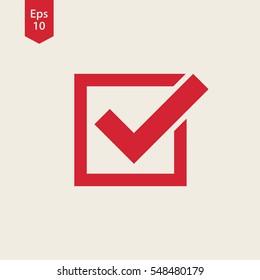 Checkbox Icon. Flat Symbol Style. Simple Web Design. Vector Illustration Sign