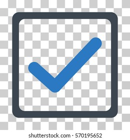 Checkbox icon. Vector illustration style is flat iconic bicolor symbol, smooth blue colors, transparent background. Designed for web and software interfaces.