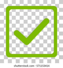 Checkbox icon. Vector illustration style is flat iconic symbol, eco green color, transparent background. Designed for web and software interfaces.