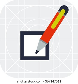 Checkbox and pen