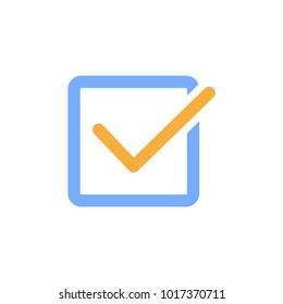Checked, checkbox icon. check box line art icon. Vector. Illustration.
