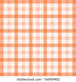 checked orange fabric materiel design for clothing and backgrounds
