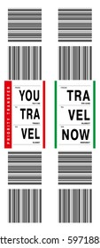 Checked-in abstract baggage tag