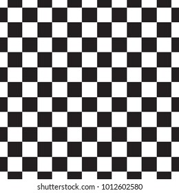 Checkerboard Seamless Pattern Black And White Abstract Geometric Infinite Background Square Repeating Texture