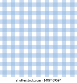 Checkered blue tablecloth background seamless pattern