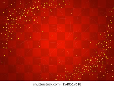 Checkered celebration background (Japanese traditional paper texture)
