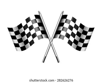 Checkered, Chequered Flags Finish Flag