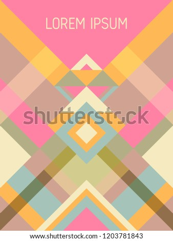 checkered cover page layout vector template stock vector royalty