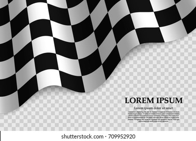 Checkered Flag Background Race Design
