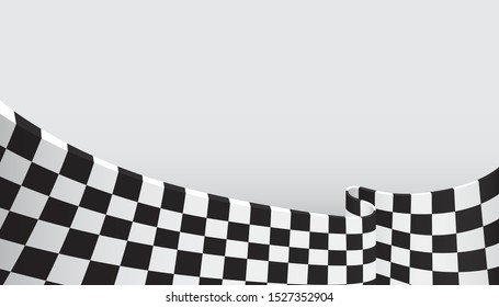 Checkered flag background. Racing flag pattern. Vector illustration
