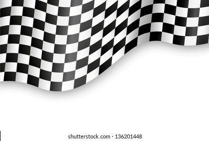 Checkered Flag Background Vector