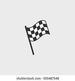 checkered flag icon, vector design