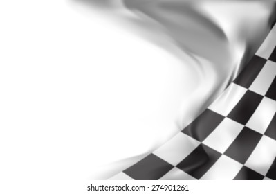 checkered flag racing background gray