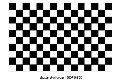 Checkered Flag Racing Isolated On White