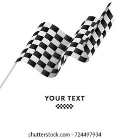 Checkered Flag. Racing flag. Vector illustration.