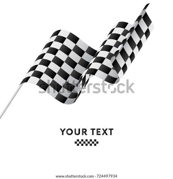 Checkered Flag Racing Flag Vector Illustration Stock Vector Royalty Free 724497934
