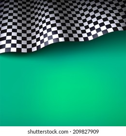 Checkered flag. Vector background with space for your text