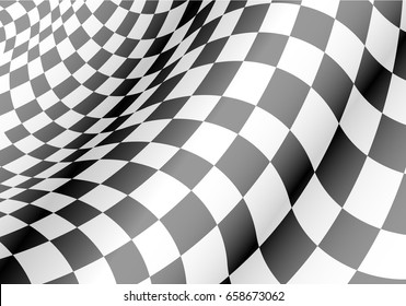 Checkered flag waved design for race championship background texture vector illustration.