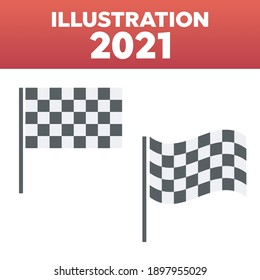 Checkered flags icons. Racing finish and start flag
