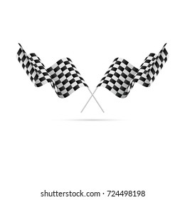 Checkered Flags. Racing flags. Vector illustration.